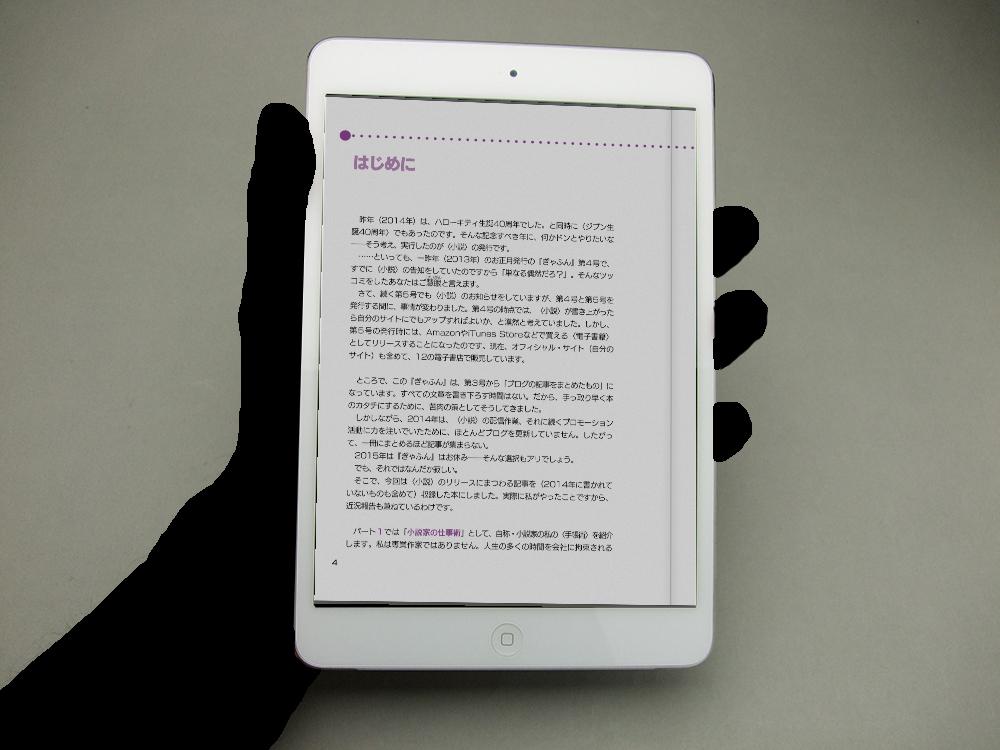 iPad mini縦置きで読む01